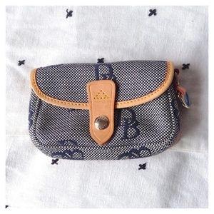 Dooney & Bourke Monogram Leather Trim Pouch Wallet